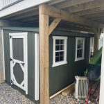 Custom wood shed under deck in Long Island NY.