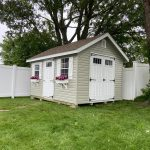 Vinyl siding on shed in Long Island NY.